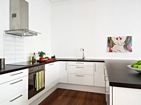 floors dark wood floor small Nordic style white furniture ikea furniture interior design open spaces decorated small apartments decorated in Nordic style decor interior white rectangular house