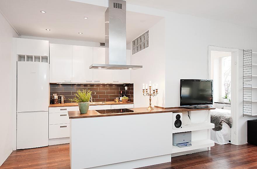 lindas cocinas integradas con la sala