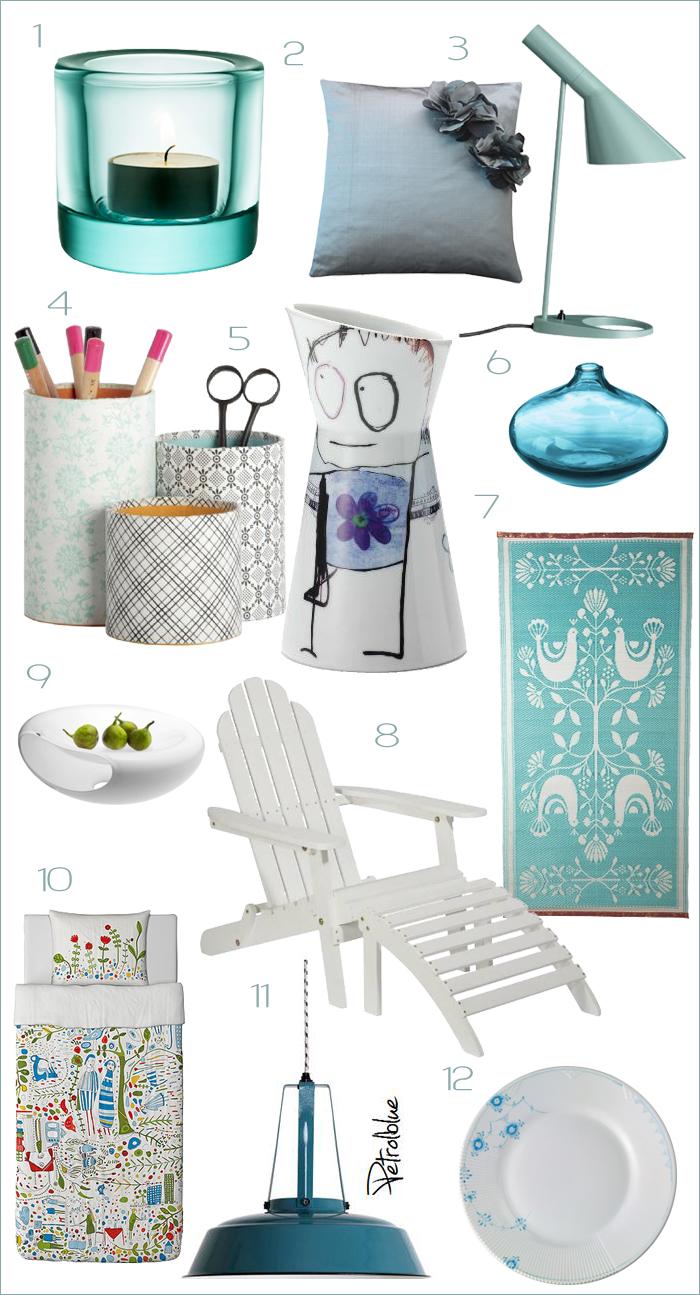 Objetos de deseo az l y blanco productos de dise o y - Objetos decoracion diseno ...