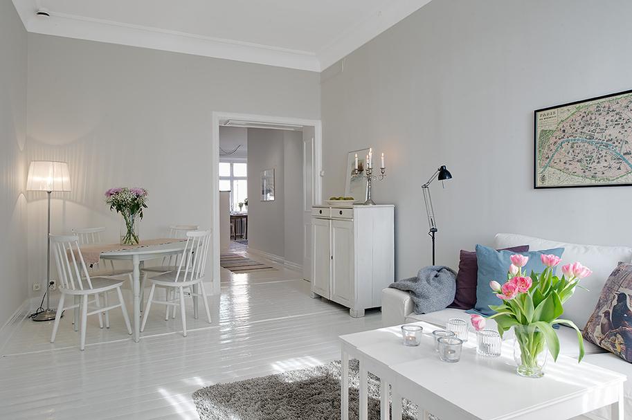 suelo laminado blanco muebles de ikea inspiracin casas estilo sueco decoracin estilo nrdico diseo de interiores