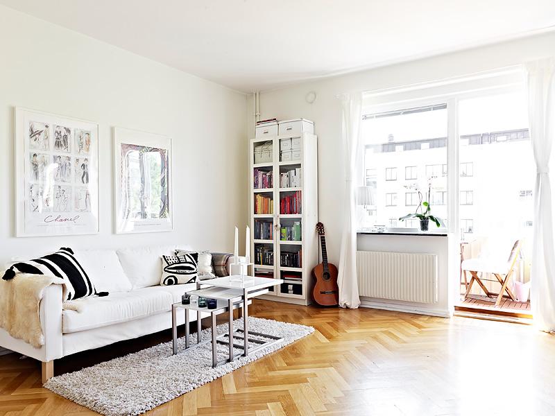 Piso de 36m con cama escondida en un armario blog - Cama estilo nordico ...