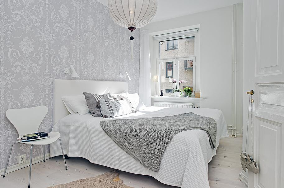 Un dormitorio muy relajante blog tienda decoraci n - Papeles pintados dormitorio ...