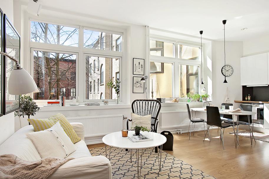 Mini piso n rdico de 36 m blog tienda decoraci n estilo - Piso estilo nordico ...
