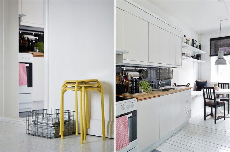 interiores espacios pequeos inspiracin muebles ikea estilo y diseo nrdico escandinavo decorar con papel de pared