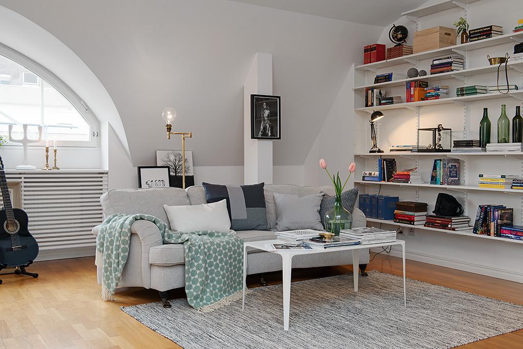 Decoracion Escandinava Salones ~   salones decoraci?n blanco madera y azul gris blog decoraci?n nordica