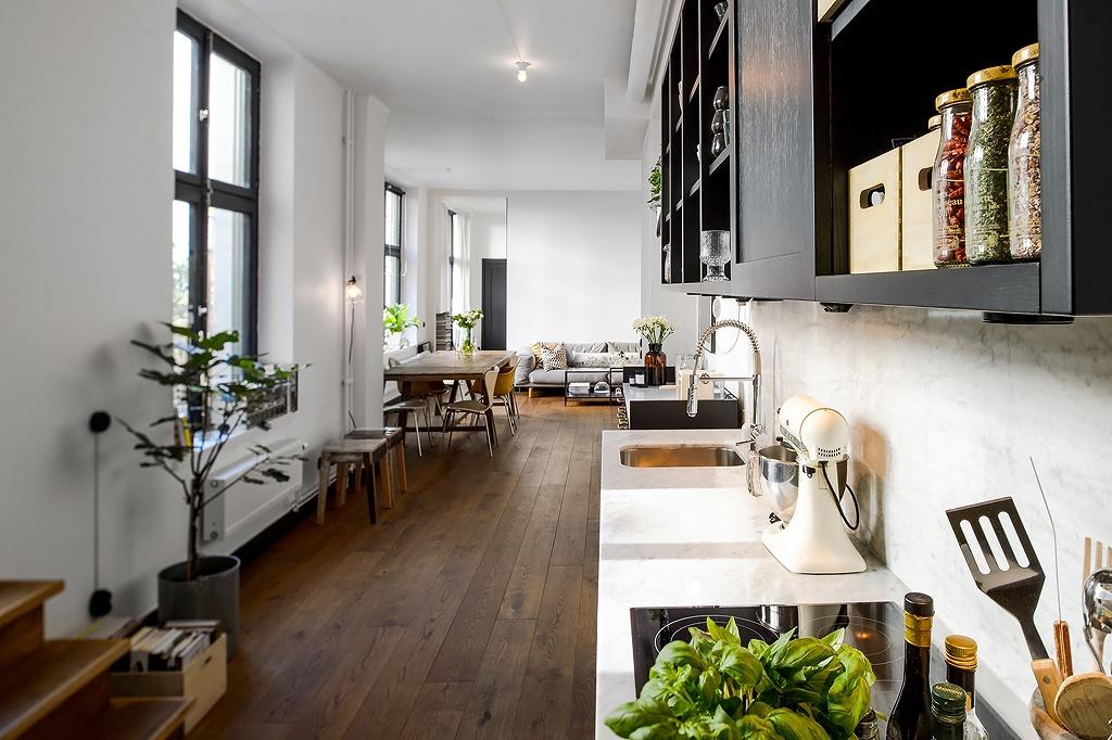 Cocina de forma rectangular - Blog tienda decoración estilo nórdico -