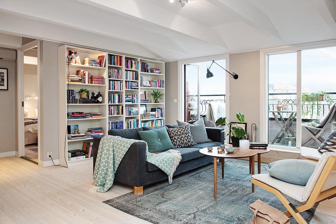 Armon a de grises y blancos en un tico n rdico blog - Ideas decoracion salones ...