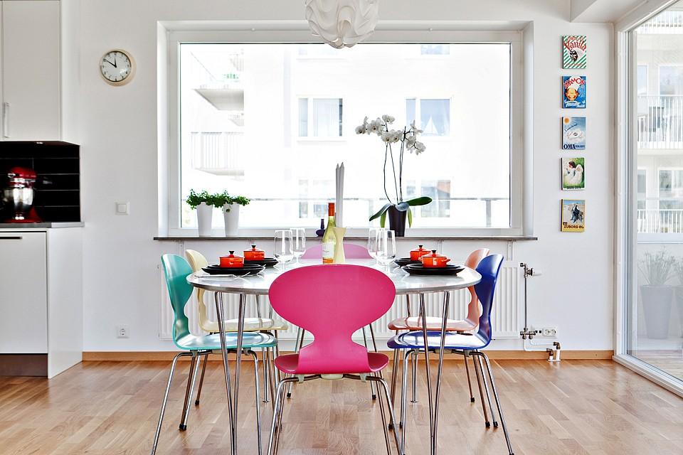 Comedor Con Sillas De Dise O De Cada Color Blog Tienda