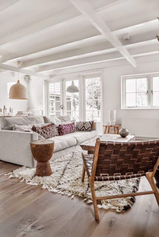 Blanco madera natural y estampados tnicos blog tienda - Decoracion natural interiores ...