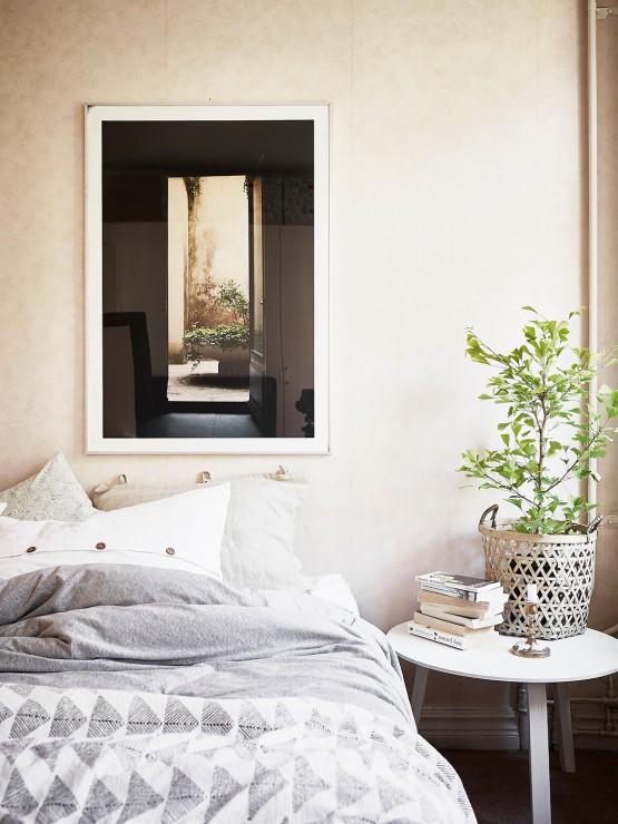 Un salón fresco y veraniego a la nórdica