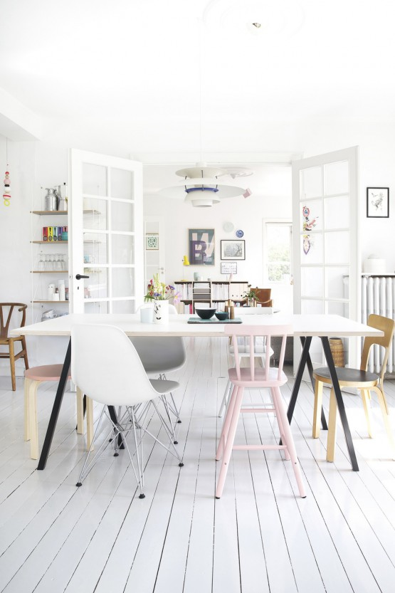 Pintar en casa estilo nórdico moderno decoración pintura decoración femenina decoración blanco colores pastel decoración cocina diáfana blanca casas danesas bonitas blog decoración interiores nórdicos