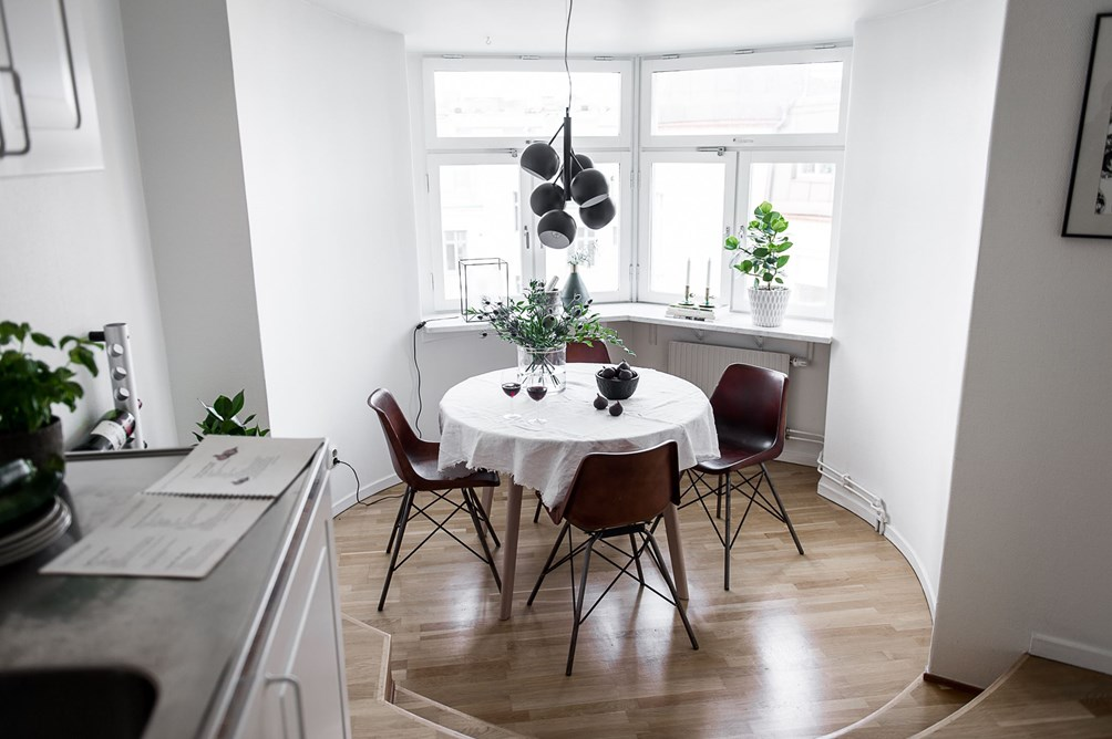 Comedor de planta circular - Blog tienda decoración estilo nórdico -