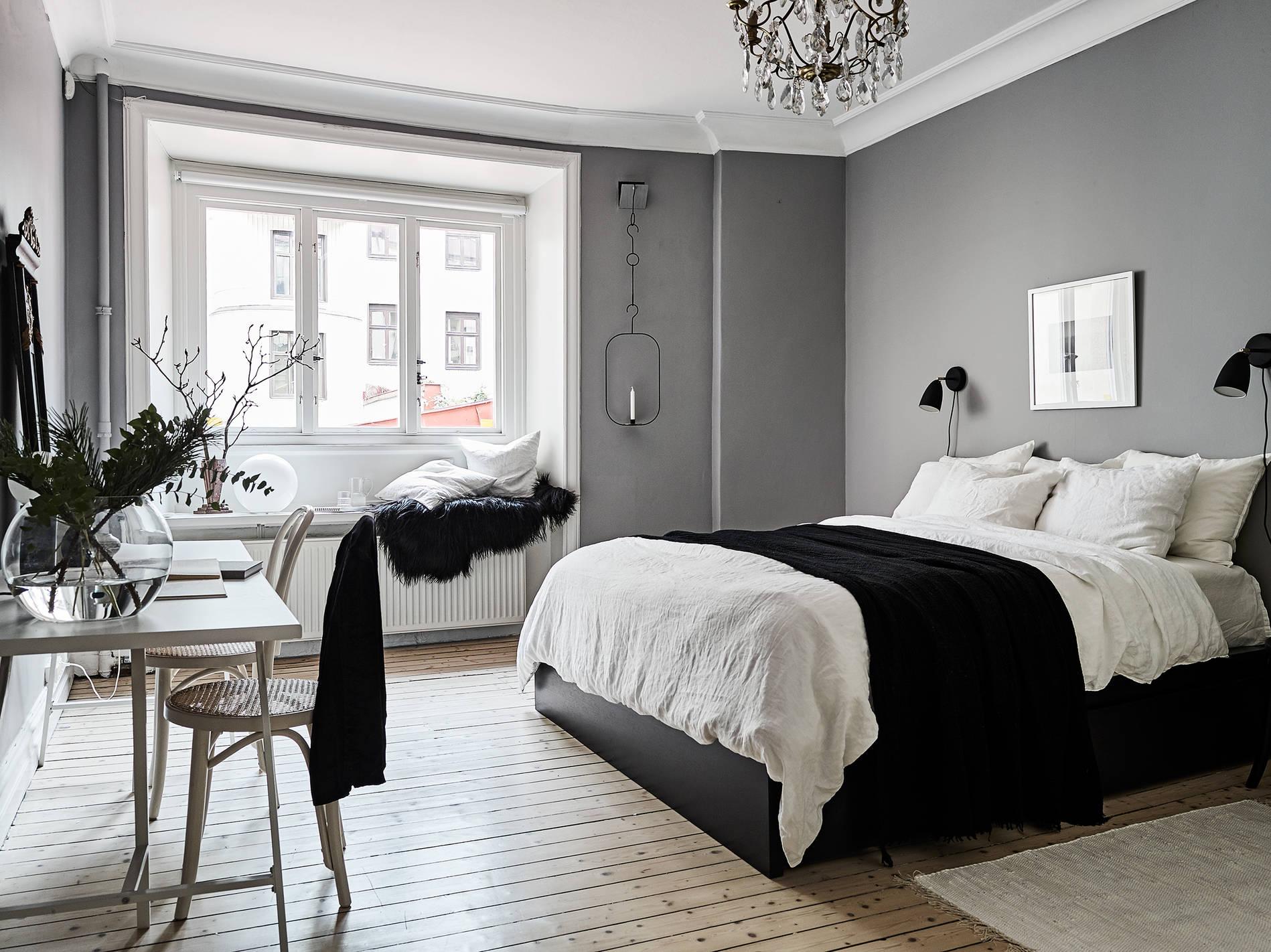Paredes grises y carpinter a blanca blog tienda - Decoracion de paredes de dormitorios ...