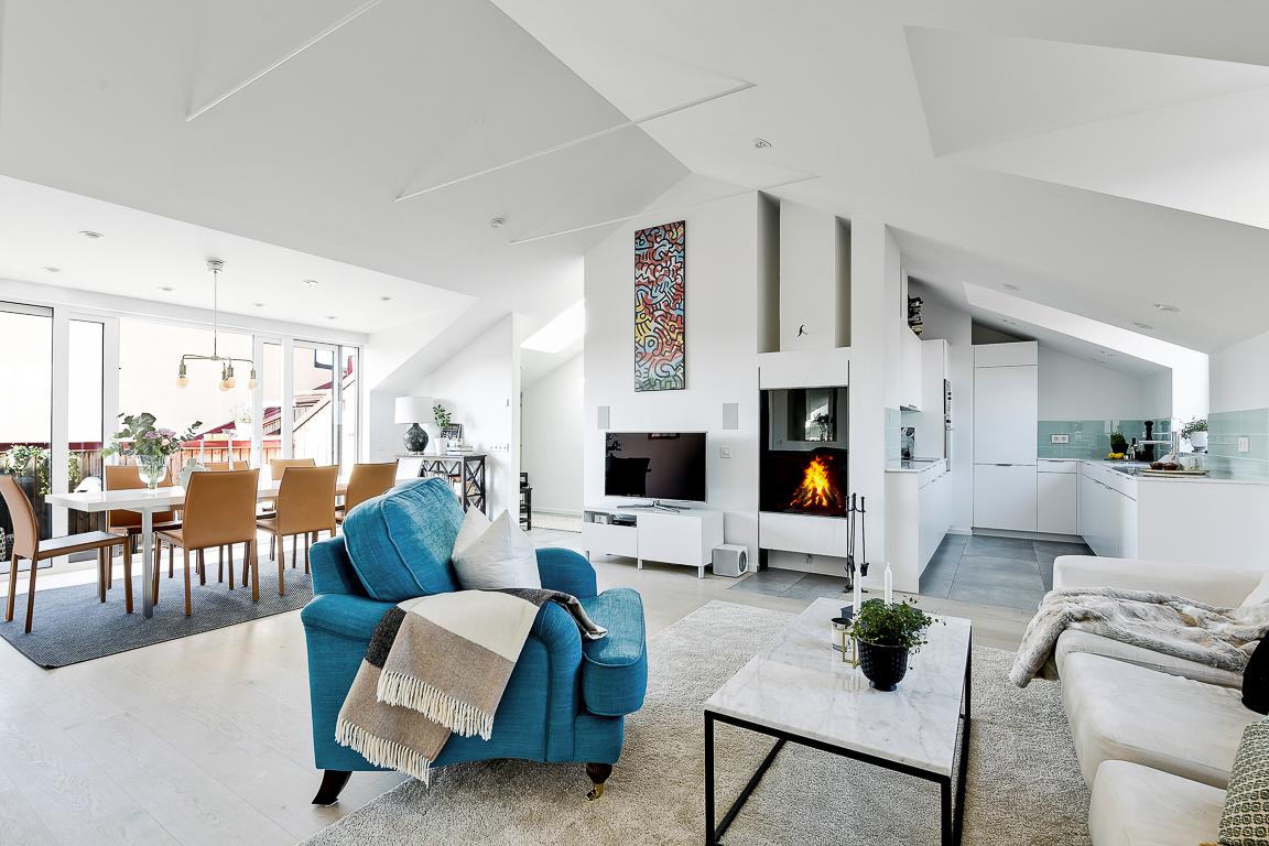 planta abierta espacio diáfano diseño interiores decoración sueca decoración sencilla decoración de interiores blog decoración nórdica atico sueco