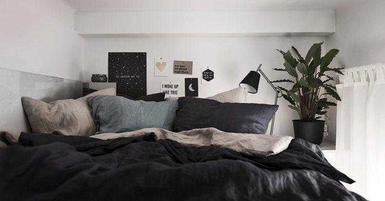 pisos pequeños minipiso Dormitorio elevado diseño interiores decoración pisos pequeños decoración estudios cocina moderna cocina abierta aprovechar espacio estudios