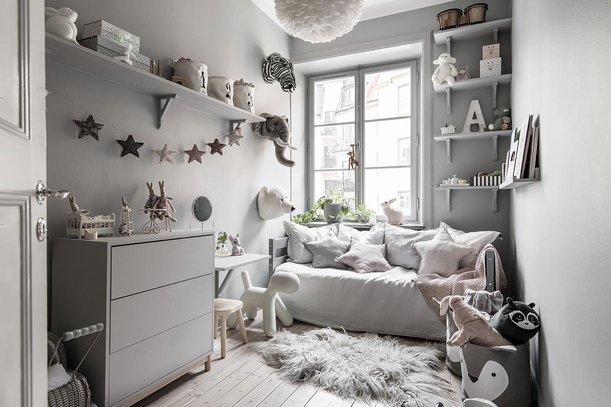 Habitaci n infantil n rdica en gris blog tienda for Habitacion infantil estilo nordico