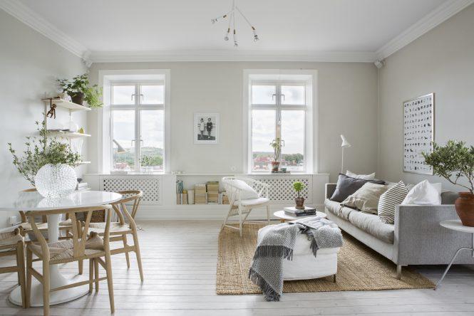 piso sueco estilo nórdico decoración pisos pequeños decoración neutros decoración escandinava decoración en blanco decoración áticos Ático nórdico en blancos y neutros