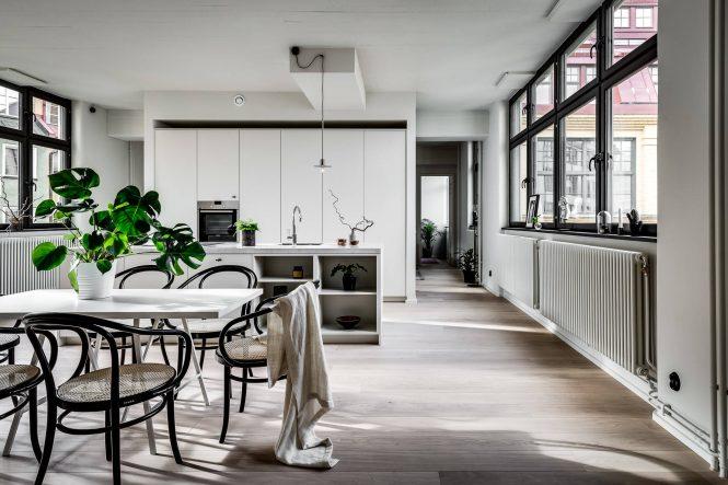 Espectacular cocina sueca abierta