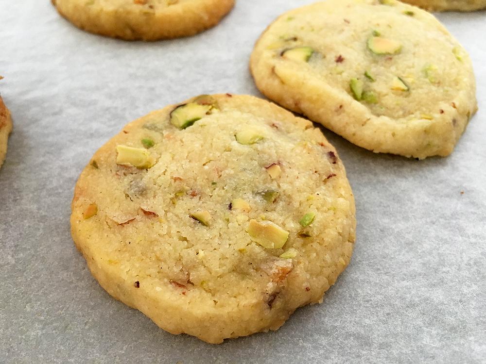 Galletas fáciles de pistachos y jengibre