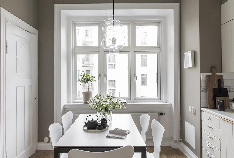 Peque o piso con gran cocina blog tienda decoraci n - Piso pequeno estilo nordico ...