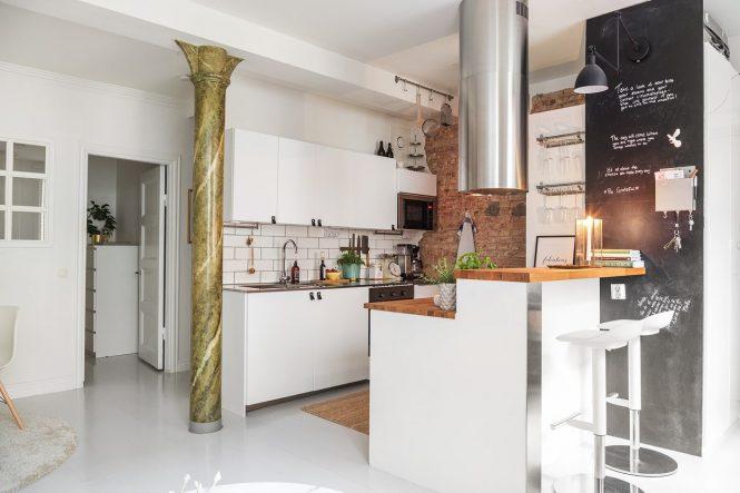 Piso de 47 m² con walk-in closet