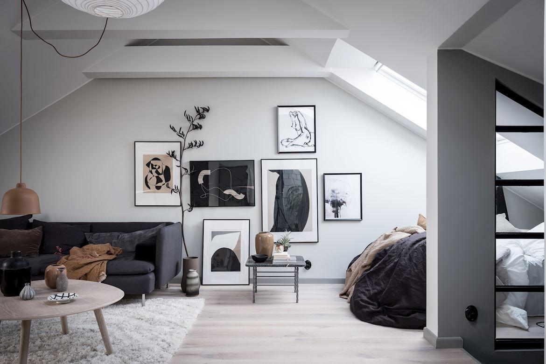 mini piso estilo nordico mini piso abierto estudio estilo nórdico estudio diáfano estilo escandinavo moderno espacios diáfanos dormitorio abierto cocina abierta