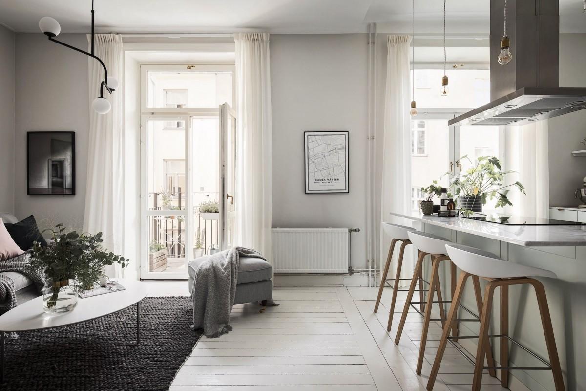 Comedor en cocina abierta con banco en la pared - Blog tienda ...