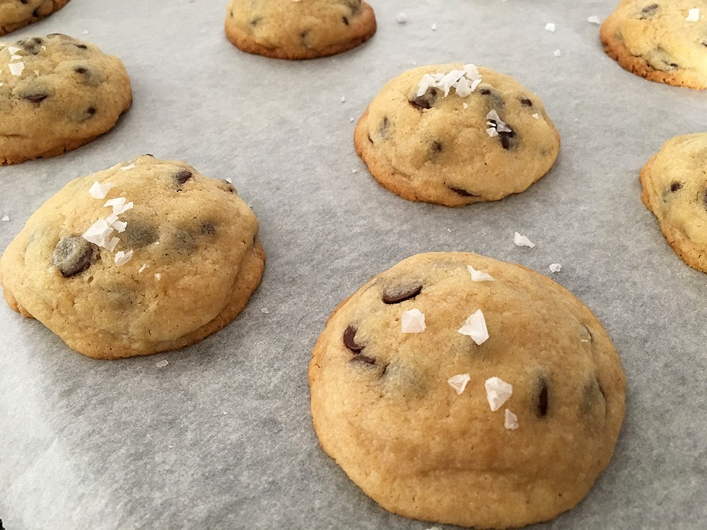 Chocolate chip cookies rellenas
