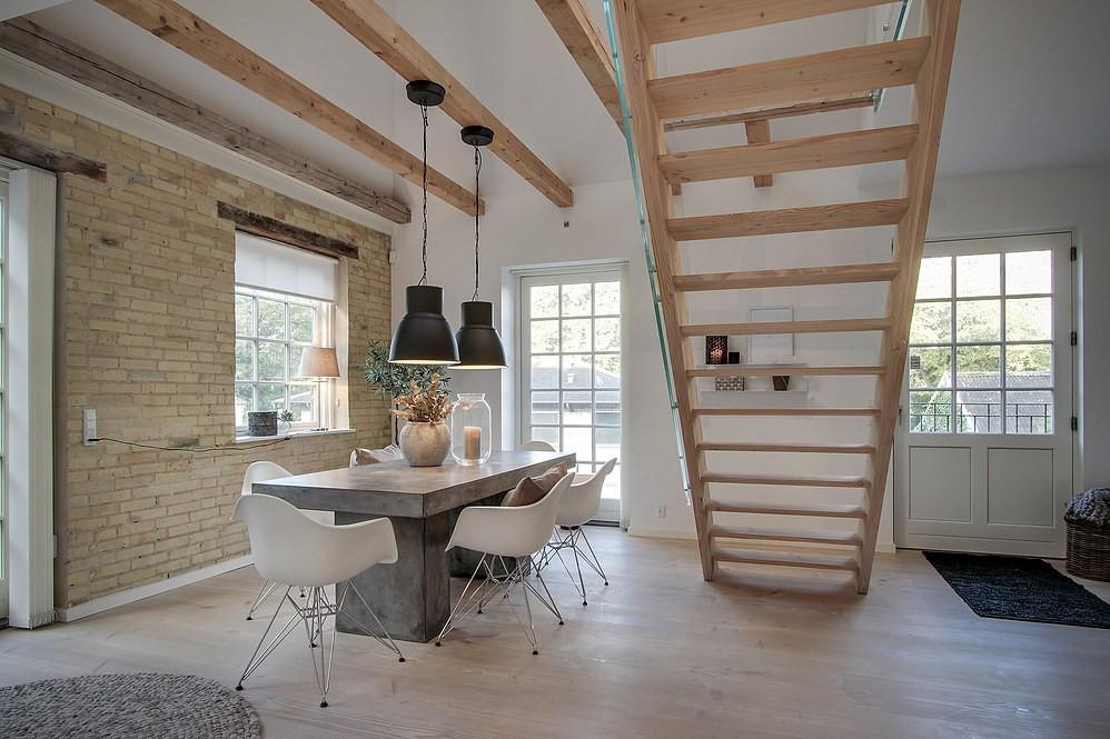 cocina sin adornos minimal cocina nórdica cocina grande cocina escandinava cocina con isla cocina blanca cocina abierta