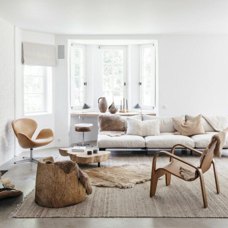 sillón swan decoración madera natural decoración escandinava decoración en neutros