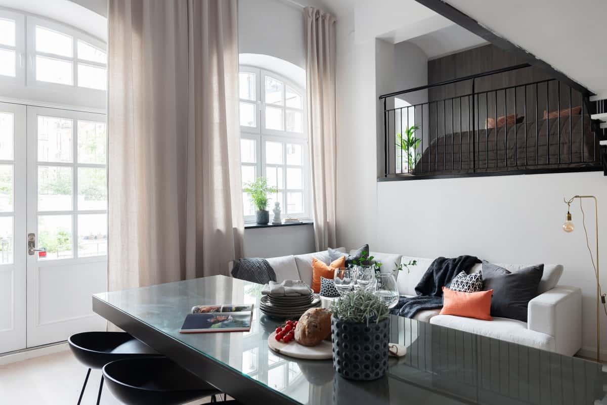 vivienda pie de calle loft dúplex decoración distribución loft distribución diáfana distribución abierta diseño loft diseño escandinavo arquitectura loft nórdico