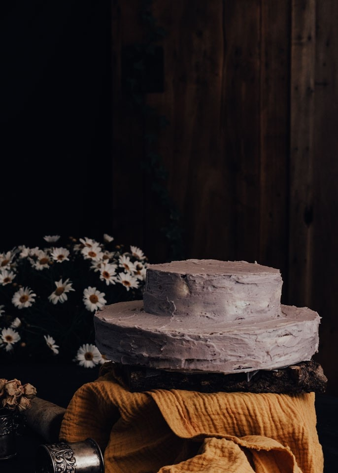 tarta facil tarta de pisos tarta de moras tarta de crema tarta con crema tarta casera recetas faciles frosting lila blackberry cake