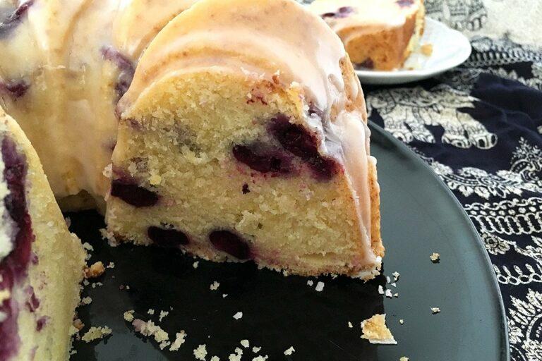 mejor receta de bundt cake lemon Blueberry Bundt Cake Bundt cake de arándanos y limón Blueberry Bundt Cake bizcocho jugoso bizcocho de arándanos