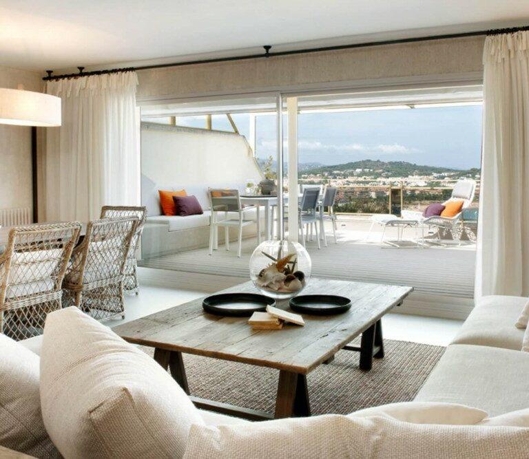 vistas piso girona reforma piso girona estilo moderno marítimo estilo costero decoración decoración interiores decoración costera girona coastal style coastal spain