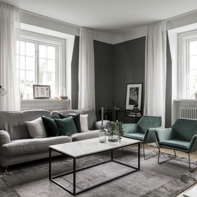 muebles de terciopelo muebles de diseño decoración sofisticada decoración nordica oscura decoración elegante decoración colores oscuros