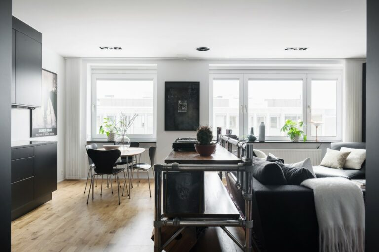 pisos pequeños decoración moderna decoración estudios decoración cosmopolita cocina negra