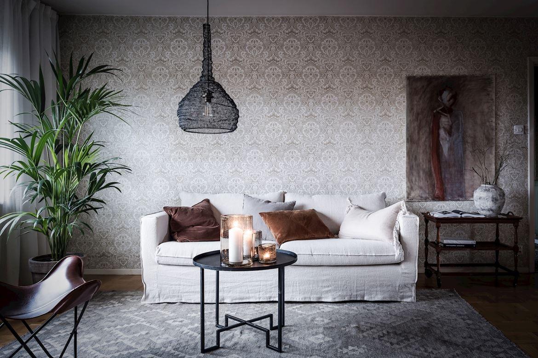 Elementos del siglo XX en un apartamento moderno