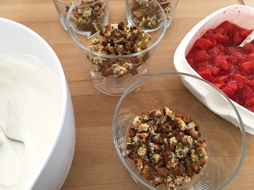 trifle de fresas strawberrie trifle postres sin gluten postre sin azúcar postre fácil