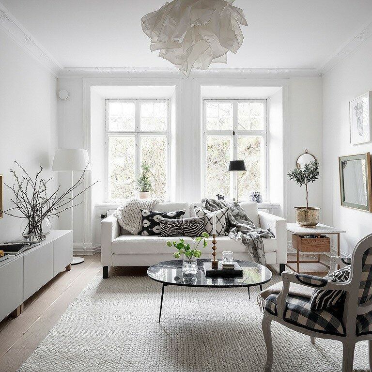 muebles protagonistas muebles diferentes decoración salones nórdicos butacas tapizadas