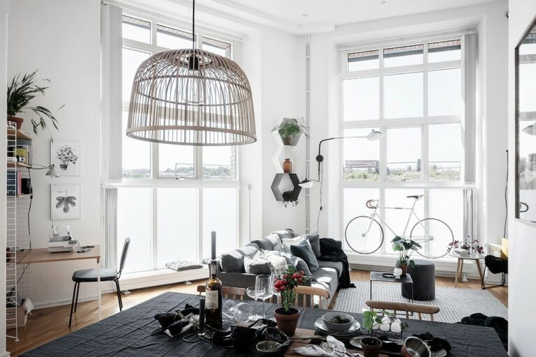 viviendas originales viviendas diferentes piso con altura al techo grandes ventanales estilo escandinavo distribución abierta diseño loft