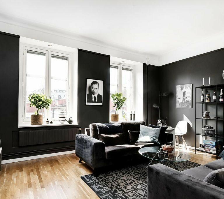 salón paredes negras piso paredes negras pintar casa negra negro en decoración interiorismo negro habitación negra cocina negra