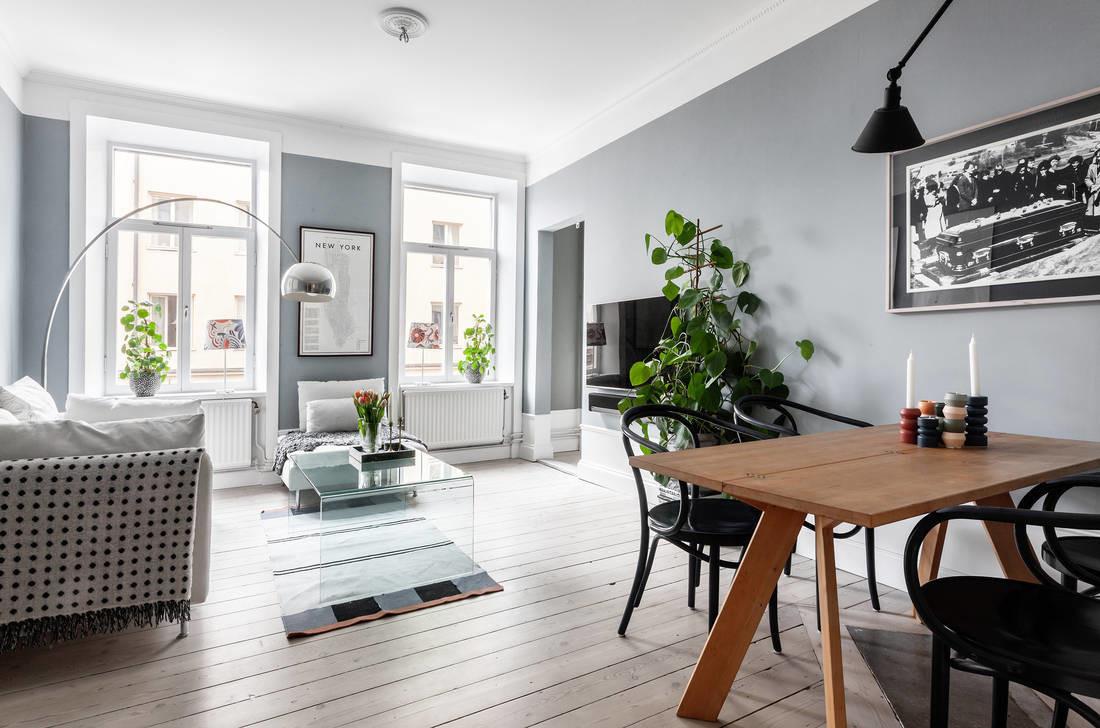 Elegante piso sueco de 60 m²
