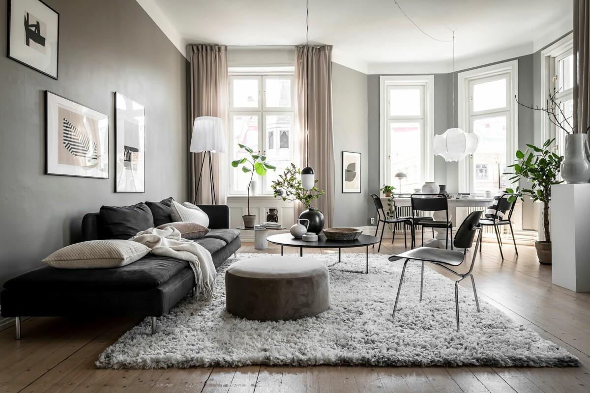 Cálido apartamento en grises