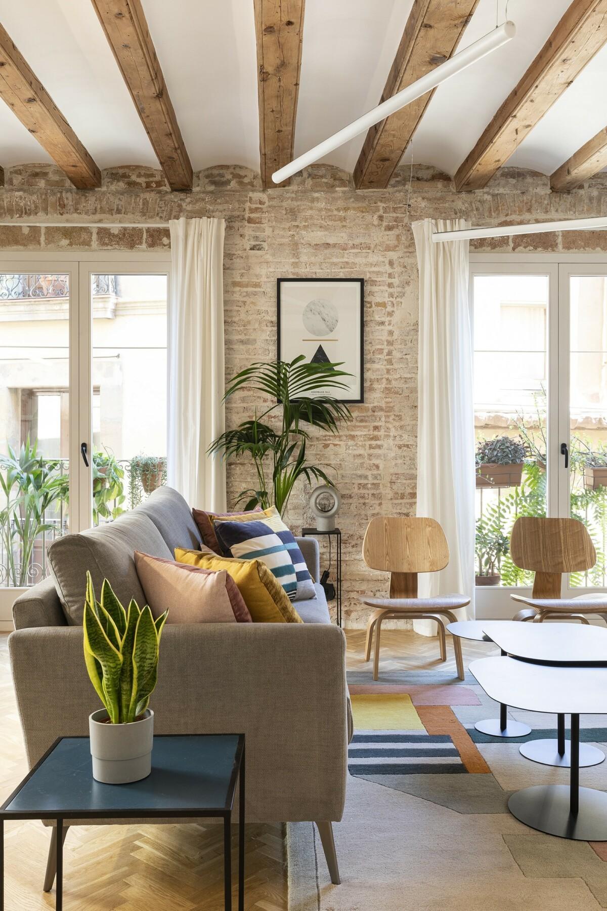 Elementos originales protagonistas en renovación en Barcelona