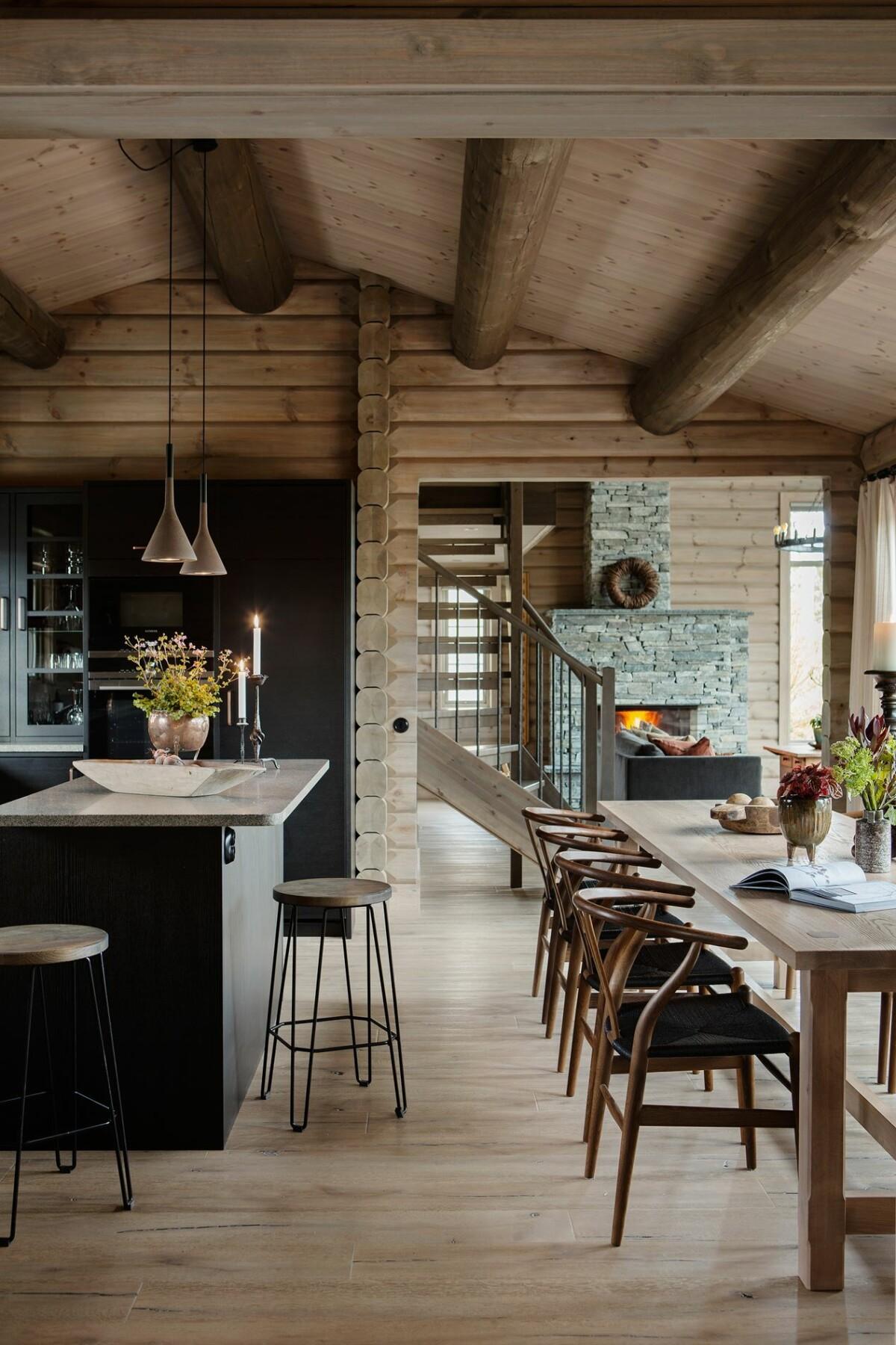 Casa de troncos madera en Åre, Suecia